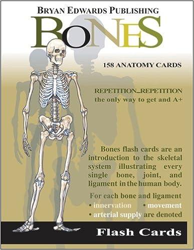 The Bones Flash Cards 9781878576019 Medicine Health Science