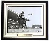 #9: Ron Turcotte Signed Framed 16x20 Secretariat 1973 Belmont Stakes Photo PSA
