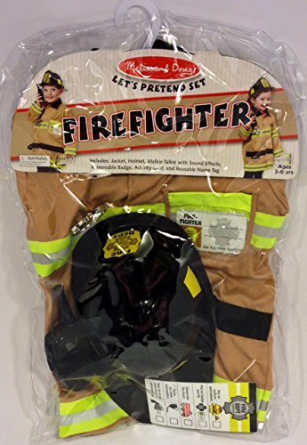 Melissa Doug Pretend Firefighter Costume