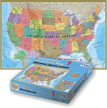 Full Map Of Usa.Maps International Usa 500 Piece Puzzle