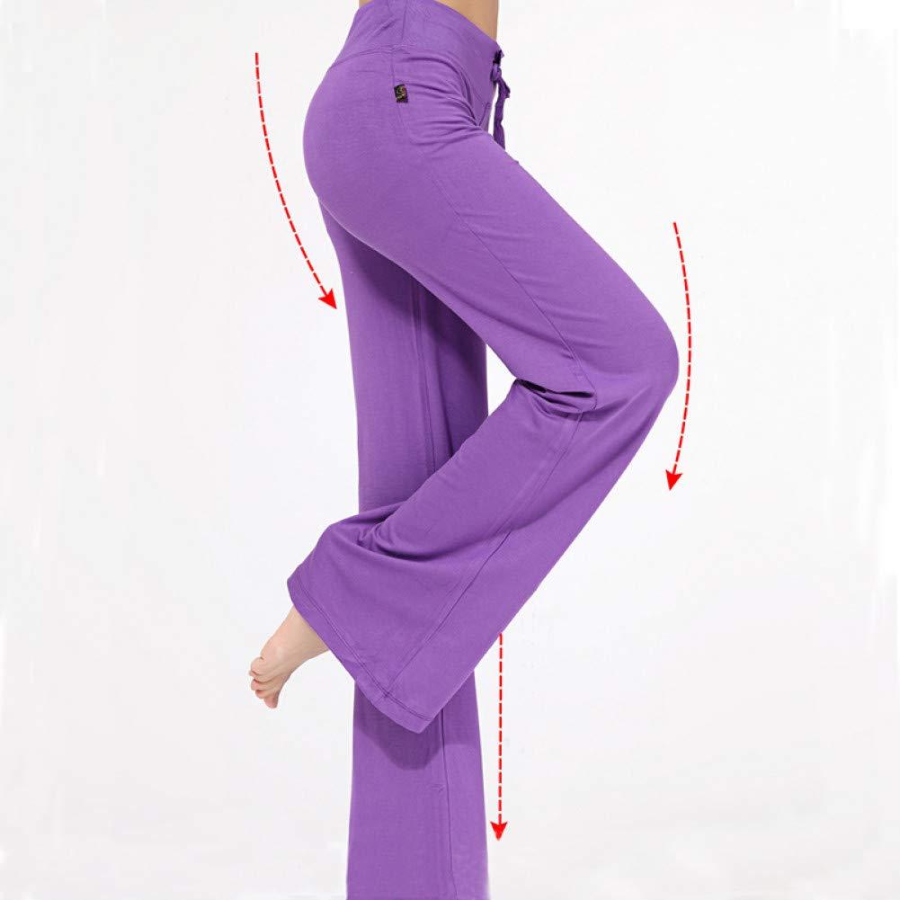 QOJAQFAJ Yoga Pants Wide Leg Sports Female High Waist Elastic Bandage Trumpet Dance Yoga Trousers