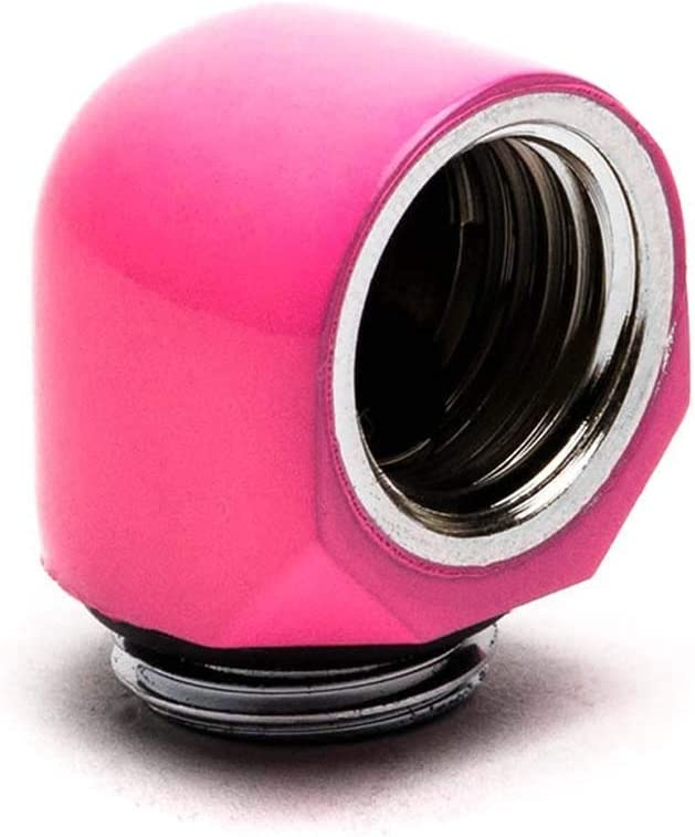 PrimoChill Male to Female G1//4 90 Degree Elbow Fitting SX UV Pink