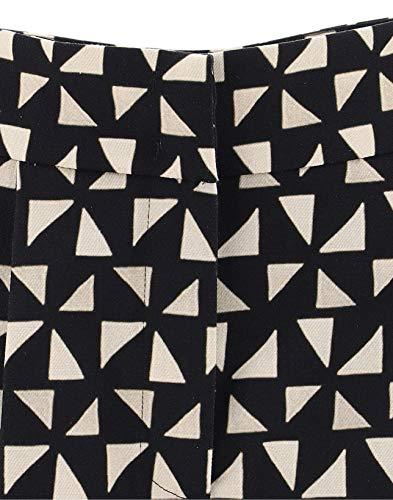 Algodon Mujer 03251634a1555 Negro Alberta Pantalón Ferretti w7xgvqzn6W