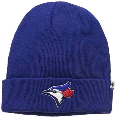 MLB Toronto Blue Jays 47 Raised Cuff Knit Beanie, One Size, Royal (Blue Socks Toronto Jays)