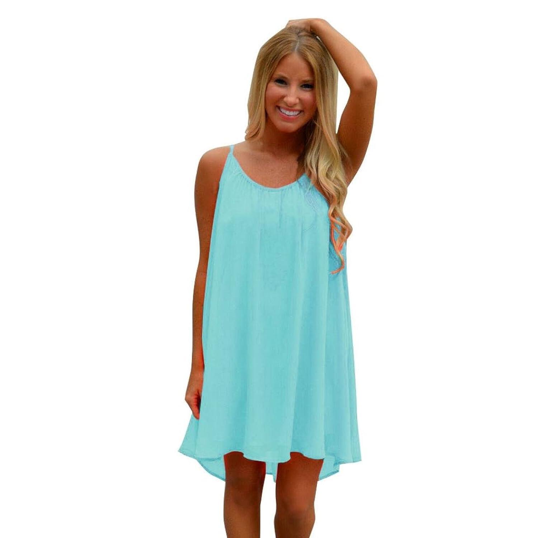 Besde Women Ladies Bikini Swimsuit Spaghetti Strap Back Howllow Out Beach Dress Chiffon