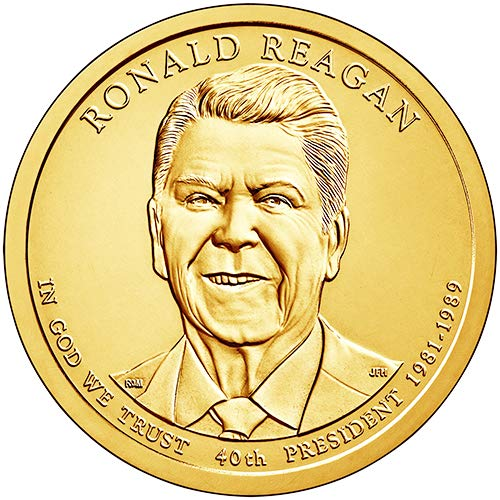 2016 D Position A $1 BU Ronald Reagan Presidential Dollar Choice Uncirculated US Mint