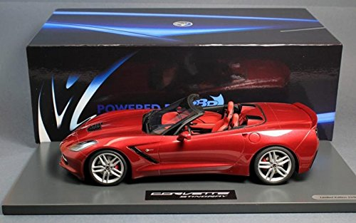 Convertible Stingray (Minichamps Chevy Corvette Stingray C7 Convertible Cristal Red BBR 1:18th)