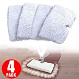 OUDER Washable Replacement Cleaning Mop Pads for Shark Steam Mop Pocket Microfiber Pads for S3500 series, S3601 and S3901 (4)