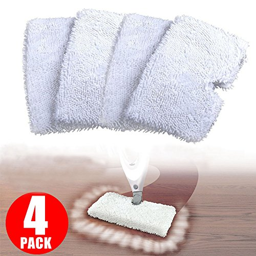 Washable Replacement Cleaning Mop Pads for Shark Steam Mop Pocket Microfiber Pads for S3500 series, S3601 and S3901 (4)