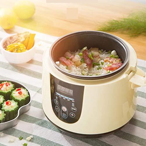 ミニ炊飯器,ホーム スマート 1 シングル 2-3 小さなドミトリー炊飯器スープ粥蒸し電気暖房ポータブル スロークッカー -イエロー  イエロー B07HDQ9YQJ