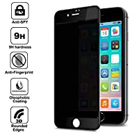 "for Apple iPhone 7 4.7"" Screen Protector Privacy Anti-Spy , Anti Spy 9H Tempered Glass, 3D Rounded Edge Full Cover Screen Protector by Shangda"