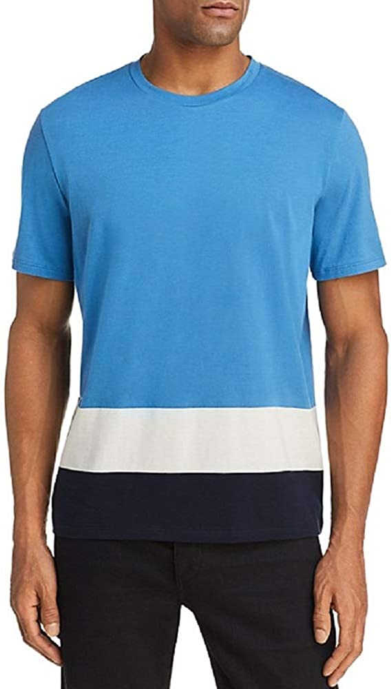 Theory Mens Striped Crew Neck T-Shirt