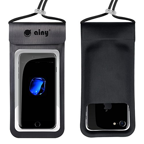 Ainy Waterproof Phone Pouch Waterproof Phone case Bag IPX8 Universal Dry Bag Outdoor Underwater for iPhoneX 8Plus 7Plus/6SPlus Samsung Galaxy s8/s7 Google Pixel HTC Moto BlackBerry up to 6.0