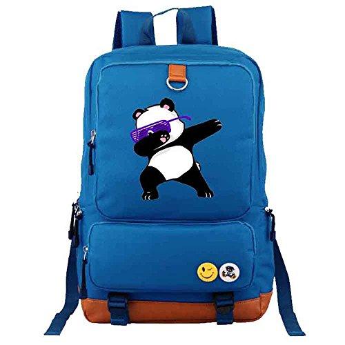 Bags travel men Blue Funny School Student Panda girl Dabbing Rucksacks Bag Shoulder Dab backpack xqwpz8FHRw