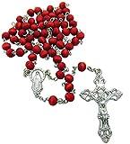 CB Rose Scented Carved Rose Petal Rosary