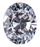 RINGJEWEL 5.75 ct VVS1 Oval Cut Real Loose Moissanite Use 4 Pendant/Ring Genuine White H-I Color