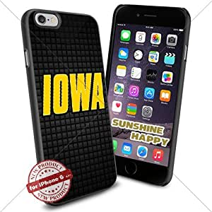 Iowa Hawkeyes, Sport NCAA Sunshine#4167 Cool iPhone 6 - 4.7 Inch Smartphone Case Cover Collector iphone TPU Rubber Case Black
