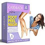 Carmadi Exfoliating Foot Peel Mask, Removes Away Calluses and Dry Dead Skin, Baby Soft Touch, Lavender Scented, 2 Pairs per Box (4) (Lavender)