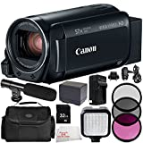 Canon VIXIA HF R800 Camcorder (Black) 9PC Accessory Bundle (Certified Refurbished) – Includes 32GB SD Memory Card + 3PC Filter Kit (UV + CPL + FLD) + MORE