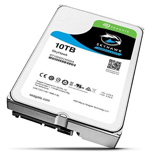 Seagate SkyHawk 10TB Surveillance Hard Drive - SATA 6Gb/s 256MB Cache 3.5-Inch Internal Drive (ST10000VX0004) by Seagate (Image #2)