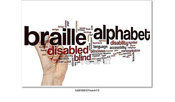 Amazon Com Barewalls Braille Alphabet Word Cloud Paper