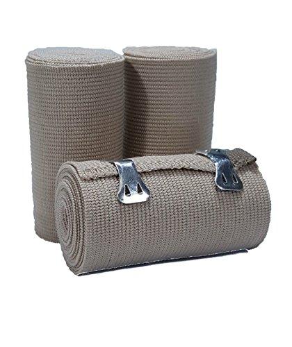 LINE2design Elastic Bandage - Premium Elastic Bandage Wrap Compression Roll - Compression Wraps - Uniform Support Latex-free Medical Supplies - 3