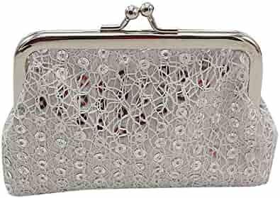 Clearance! Wobuoke Womens Small Sequin Wallet Card Holder Coin Purse Clutch Handbag  Bag 7ebcf2617ac71