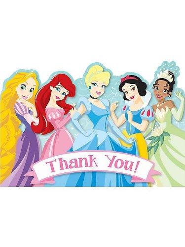 Disney Princess 1st Birthday Thank You Notes w/ Envelopes (8ct)