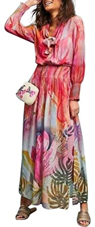 5fbac4b3d70 Image Unavailable. Image not available for. Color  Anthropologie Watercolor  Maxi Dress by Bl-nk Sz XSP - NWT