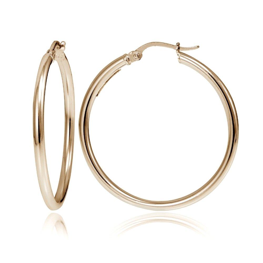 Hoops Loops Sterling Polished Earrings Image 3