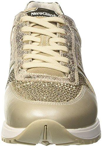 Sneakers Nerogiardini Platino 37 Pelle Per In Beige E taglia Donna Camoscio f6F7qxw6