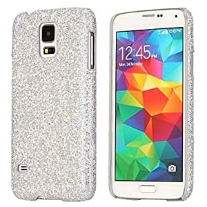 ZCL Glitter Flash Sequins Evening Dress Pattern Leather Coated Hard Case Cover for Samsung Galaxy S5 i9600 , Silver