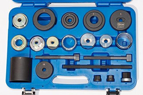 Koch Tools KT20377 BMW Master Trailing Arm Bushing Tool Set - E36 / E46 Rear Suspension 1990-2007 3-Series E36 E46 - NEW and OLD Bushing Styles