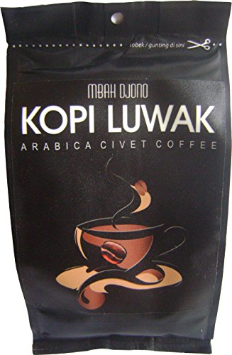 1 Lbs Fresh Cat Coffee - Arabica Civet Coffee Grounds Plus Certificate of Authenticity from Agricultural Ministry of Indonesia - Brand: Kopi Luwak Mbah ()
