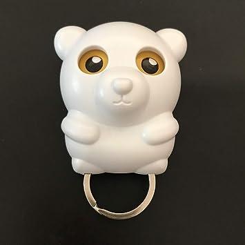 Amazon Com Cute Cartoon Animals Shape Key Holder Magnetic Wall Mounted Owl Key Holder It Will Open Eyes Key Hooks For Hanging Keys Office Products