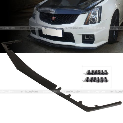 09-13 Cadillac CTS-V Hennessey Style PU Front Body Bumper Lip Spoiler Kit