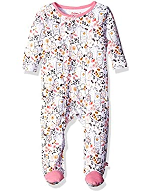 Baby-Girls Newborn Owls Footie