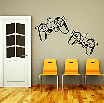 Wall Decals Game Controllers Joystick Gamer Gaming Video Game Kids Children  Gift Nursery Boys Room Wall