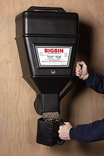 - Kane BBD Big Bin 40lb Large Wall Mounted Dispenser Bulk Cat Litter Dog Dry Food Storage Container Sturdy Feed Bin Feeder Lid Store Pet Food Dog Treat Animal Hog Feed Hanging Off Floor Indoor Outdoor
