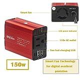 Bapdas 150W Car Power Inverter DC 12V to 110V AC