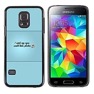 EJOY---Cubierta de la caja de protección la piel dura para el / Samsung Galaxy S5 Mini, SM-G800 / --Ojos podría tomar Fotos