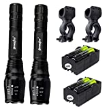 2 Pack LED Flashlight Super Bright 10000 Lumens Handhold Flashlights 5 Modes Portable