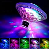 Swimming Pool Lights Floating Underwater LED Pond Lights Seven-Color Drifting Lamp Waterproof Underwater Pond Swimming Pool Lamp