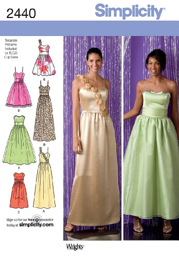 Simplicity Sewing Pattern 2440 Special Occasion, P5 (12-14-16-18-20)