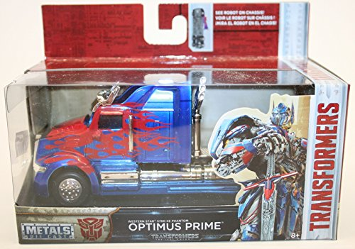 (Jada 1:32 Metals Transformers - Optimus Prime Western Star 5700 XE Phantom Diecast Model Car)