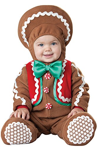 InCharacter Costumes Baby's Sweet Gingerbaby Costume, Brown/Red/Green, -