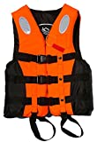 C-Pioneer Adult Buoyancy Aid Sailing Kayak Life Jacket Blue/Orange/ L-3XL (Orange, XXL)
