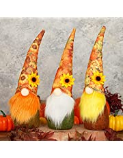 UgyDuky 3 Pack Thanksgiving Fall Gnome Ornaments, Harvests Festival Sunflower Faceless Gnome Doll, Thanksgiving Day Desktop Decor, Farmhouse Decorations Home Kitchen Tiered Tray Décor