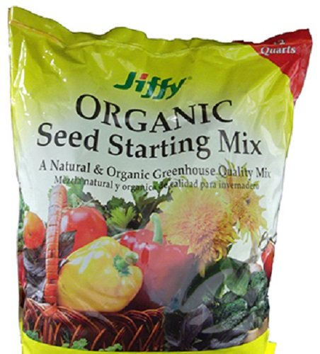 Jiffy G312 12 Quart Natural & Organic Seed Starter Potting Mix - Quantity 8 by Jiffy