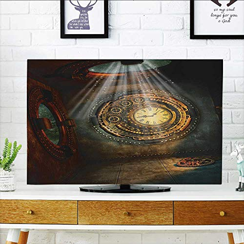 tv Protective Cover Fantasy with Clock Dream Sky Lights from The Ceiling Ficti Stars tv Protective Cover W32 x H51 INCH/TV 55